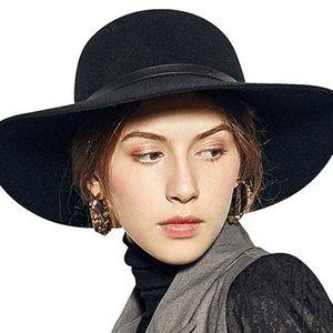 Sedancasesa Wide Brimmed 100% Wool Felt Floppy Hat